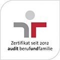 Audit berufundfamilie - Zertifikat seit 2012